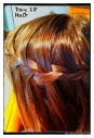 My first waterfall braid - in Lil E's hair